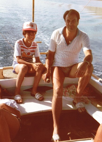 My kid brother (with the best baseball cap) with my dad. In the best boat, in the best waters in the best country in the world!