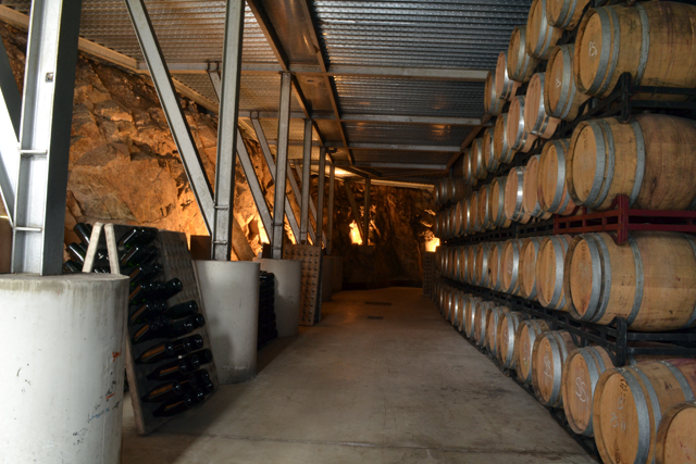 The new barrel room at Alta Alella